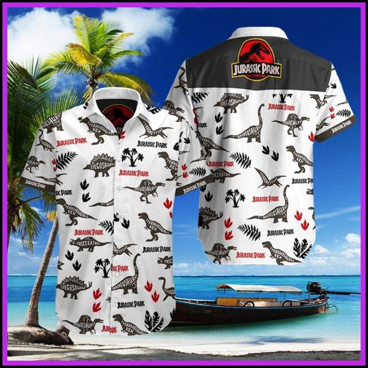 Jurassic park hawaiian shirt2