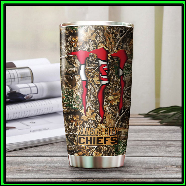 Kansas city chiefs hunting monster tumbler cup11