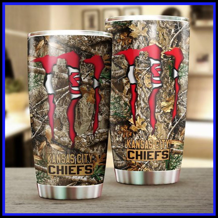 Kansas city chiefs hunting monster tumbler cup7
