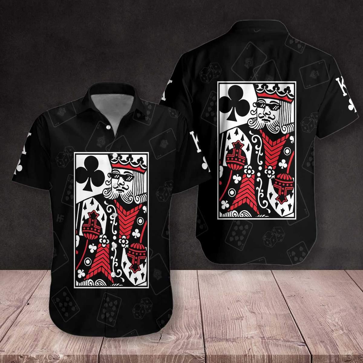 King Card Hawaiian Shirt2