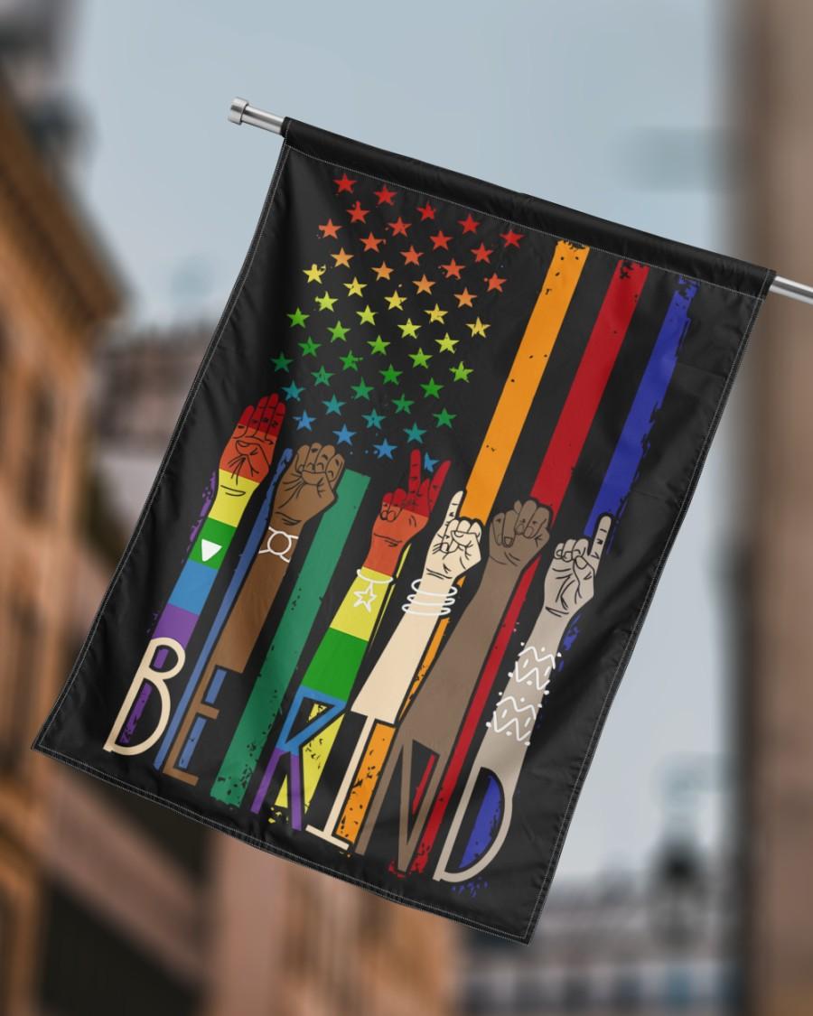 LGBT Pride American flag Be Kind Flags1