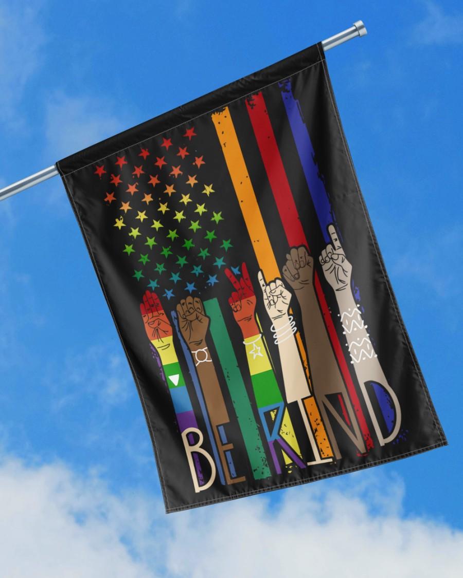 LGBT Pride American flag Be Kind Flags2