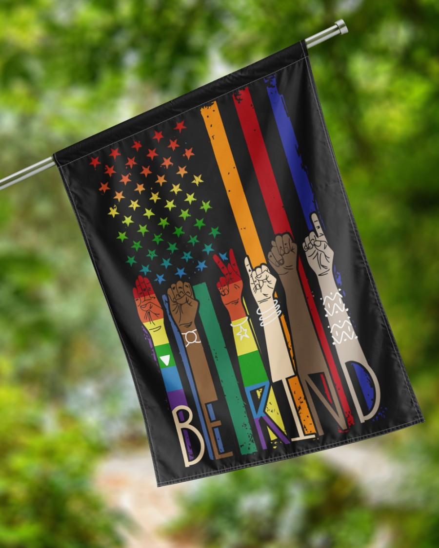 LGBT Pride American flag Be Kind Flags3