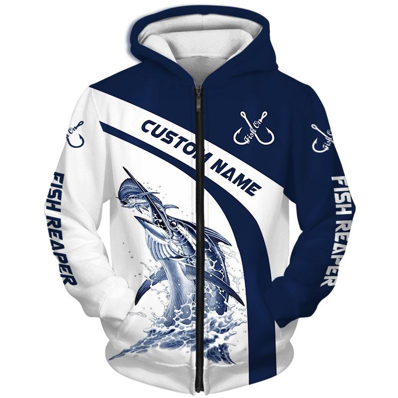 Marlin Fishing Reaper Custom Name 3d hoodie Shirt 21