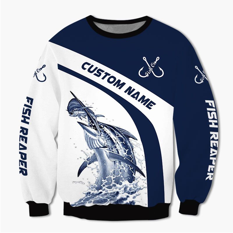 Marlin Fishing Reaper Custom Name 3d hoodie Shirt