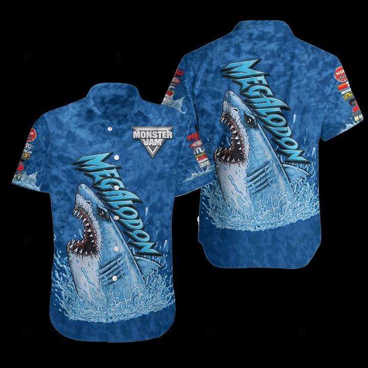 Megalodon Monster Hawaiian Shirt 1