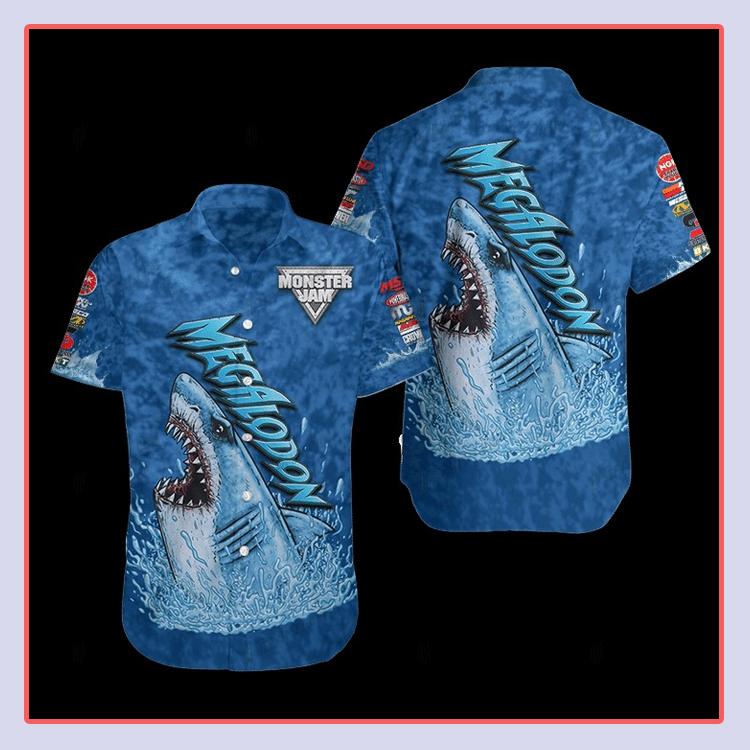 Megalodon Monster Hawaiian Shirt1 1