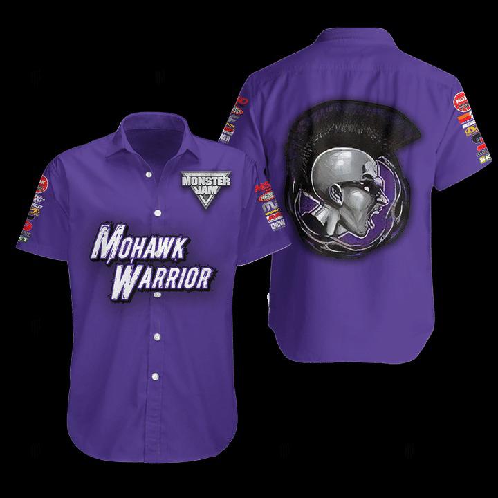 Mohawk Warrior Monster Truck Hawaiian Shirt 1