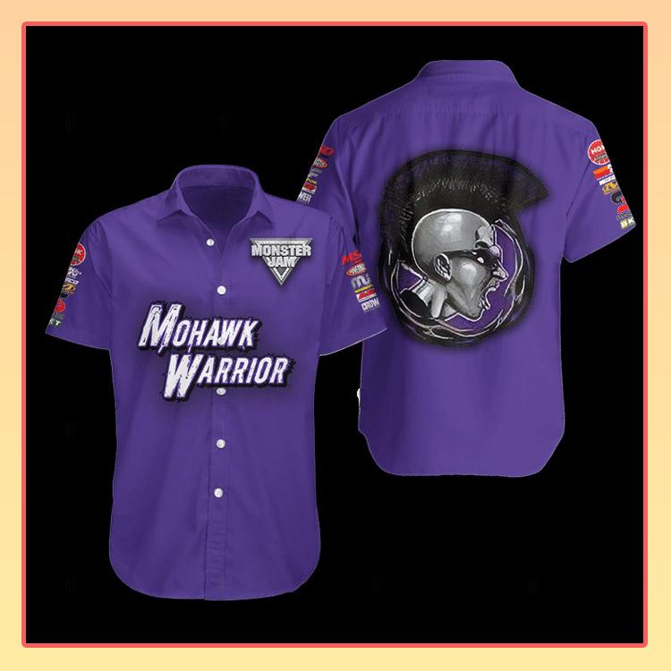 Mohawk Warrior Monster Truck Hawaiian Shirt2 1
