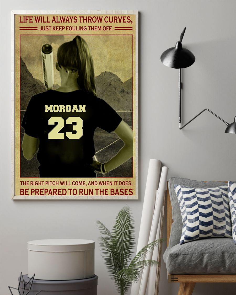 Morgan 23 Life Will Always Throw Curves Just Keep Fouling Them Off Shirt1