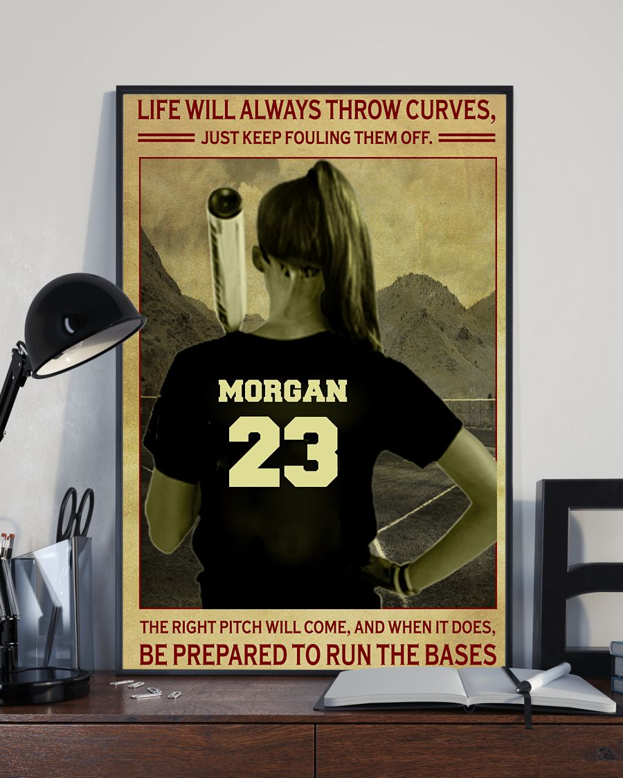 Morgan 23 Life Will Always Throw Curves Just Keep Fouling Them Off Shirt2