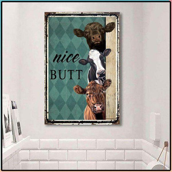 Nice Butt Cows Metal Sign 1 600x600 2