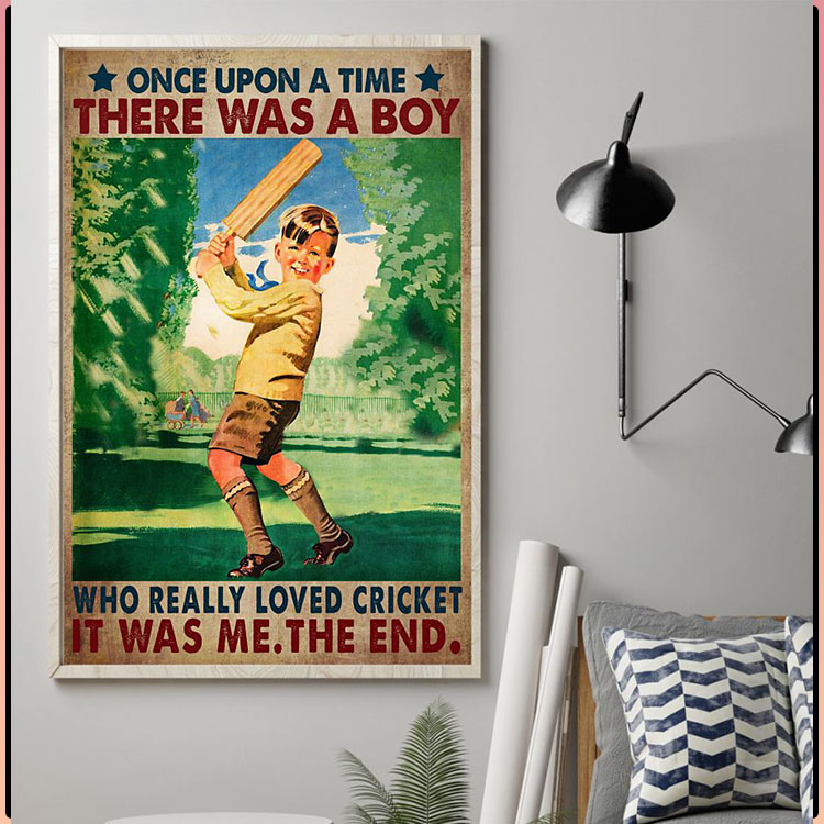 Once upon a time there was a boy who really loved cricket poster1