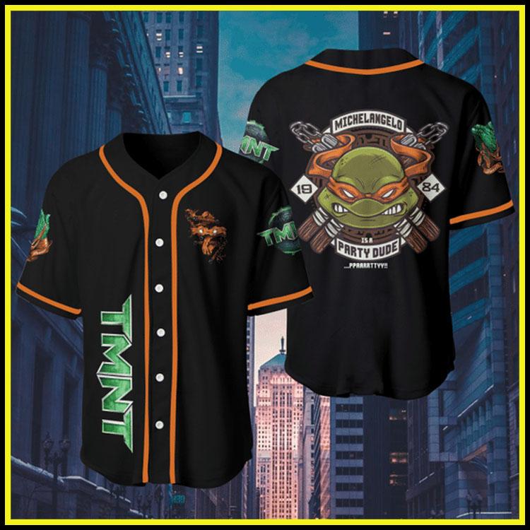 Orange Teenage Mutant Ninja Turtlesjersey baseball shirt3