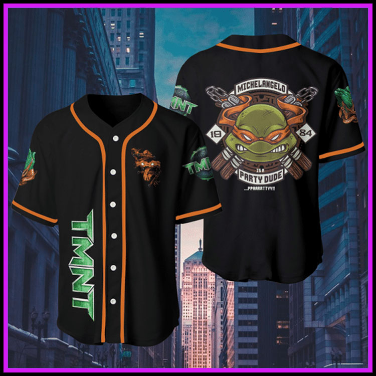 Orange Teenage Mutant Ninja Turtlesjersey baseball shirt7
