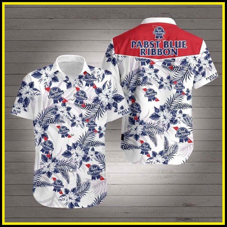 Pabst blue ribbon hawaiian shirt3