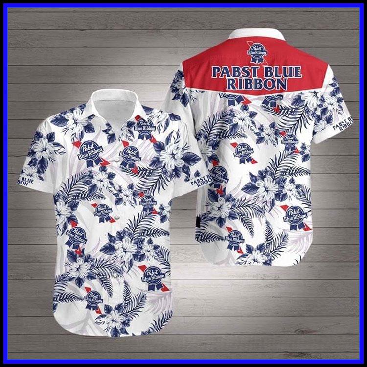 Pabst blue ribbon hawaiian shirt7