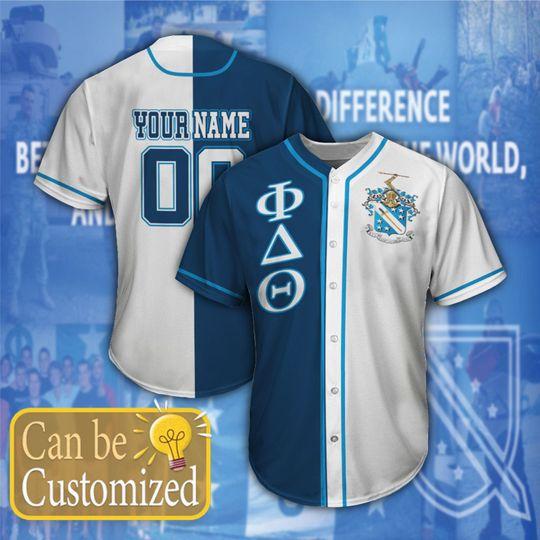 Phi Delta Theta Personalized Baseball Jersey1