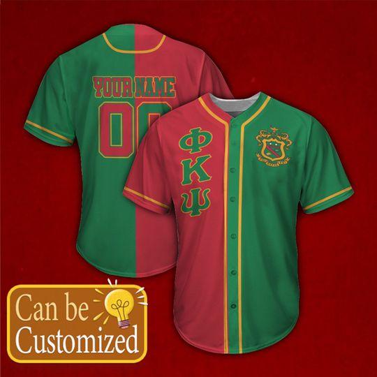 Phi Kappa Psi Personalized Baseball Jersey