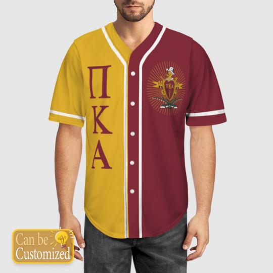 Pi Kappa Alpha Personalized Baseball Jersey