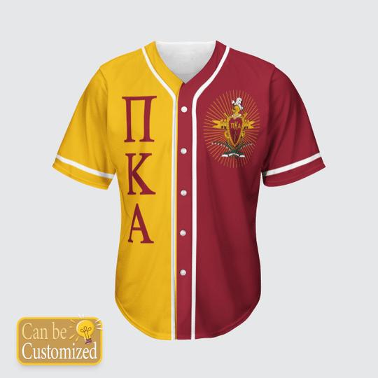 Pi Kappa Alpha Personalized Baseball Jersey3