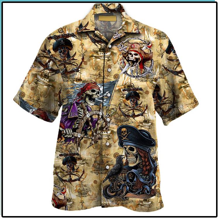 Pirates Skull All Over Print Hawaiian Shirt