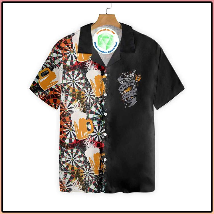 Play Darts And Drink Beer V1 Hawaiian Shirt3