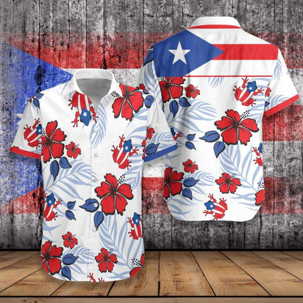 Puerto Rico Common Coqui Flag Hawaiian Shirt2 600x600 1