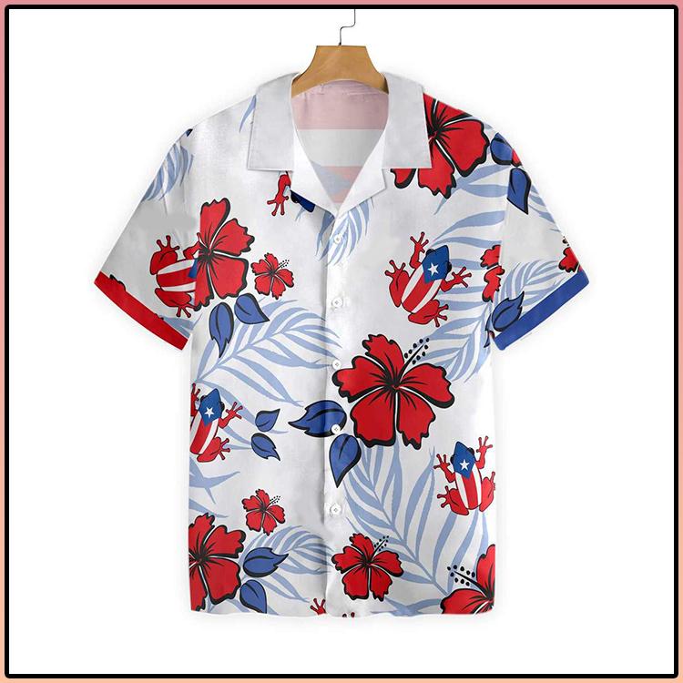 Puerto Rico Common Coqui Flag Hawaiian Shirt3