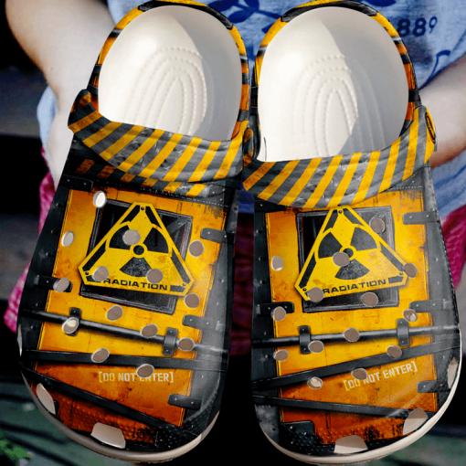 Rad Tech Do Not Enter Sku 2028 Crocs Clog Shoes4 1