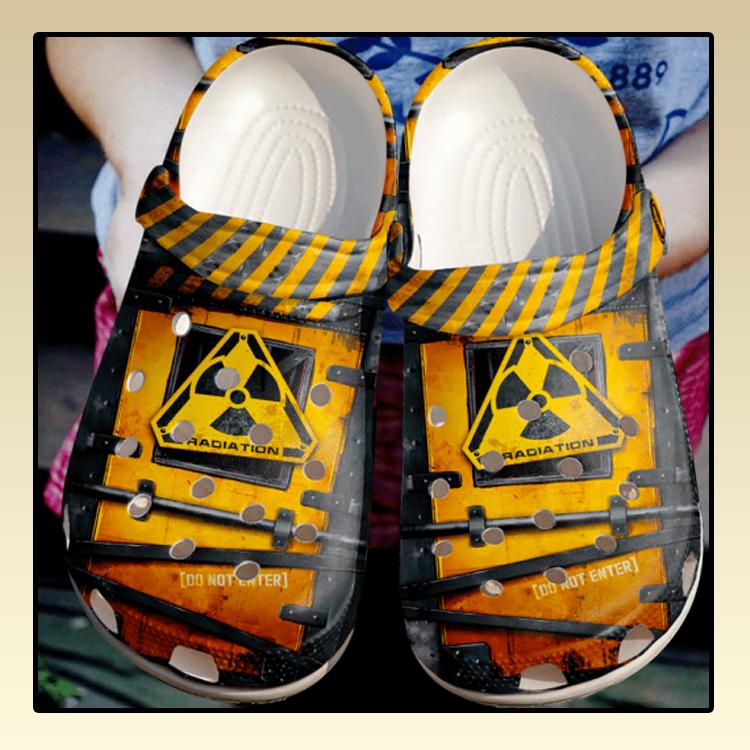 Rad Tech Do Not Enter Sku 2028 Crocs Clog Shoes4 3