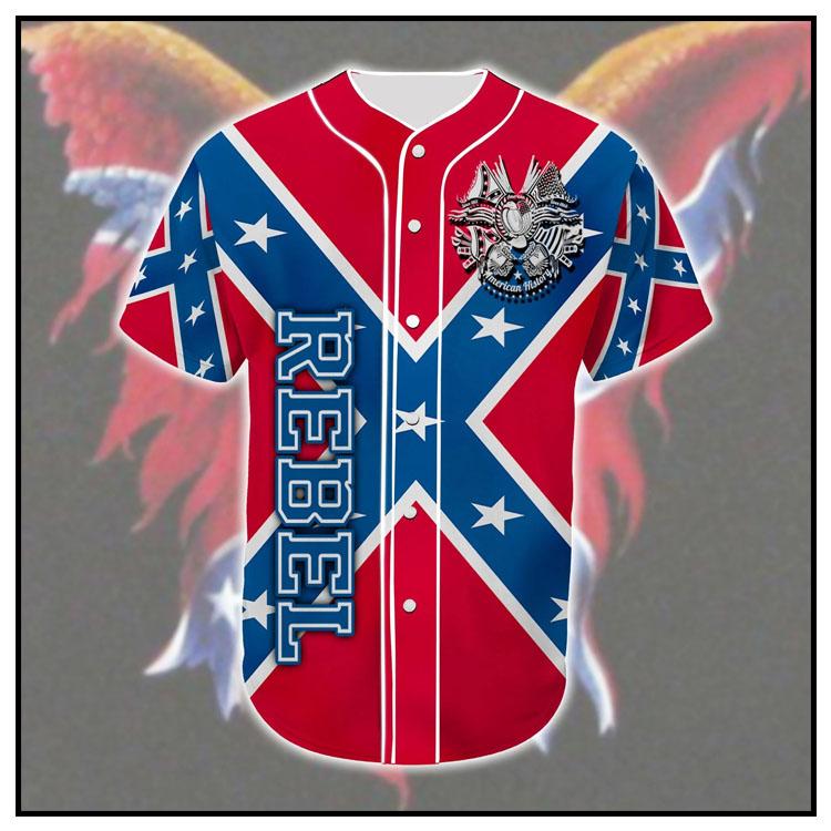 Rebel Confederate flag eagle customized baseball tee shirt10