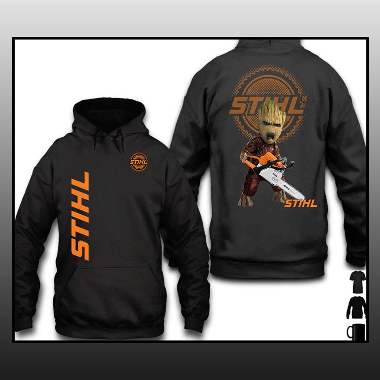 STIHL Groot 3d over print hoodie1