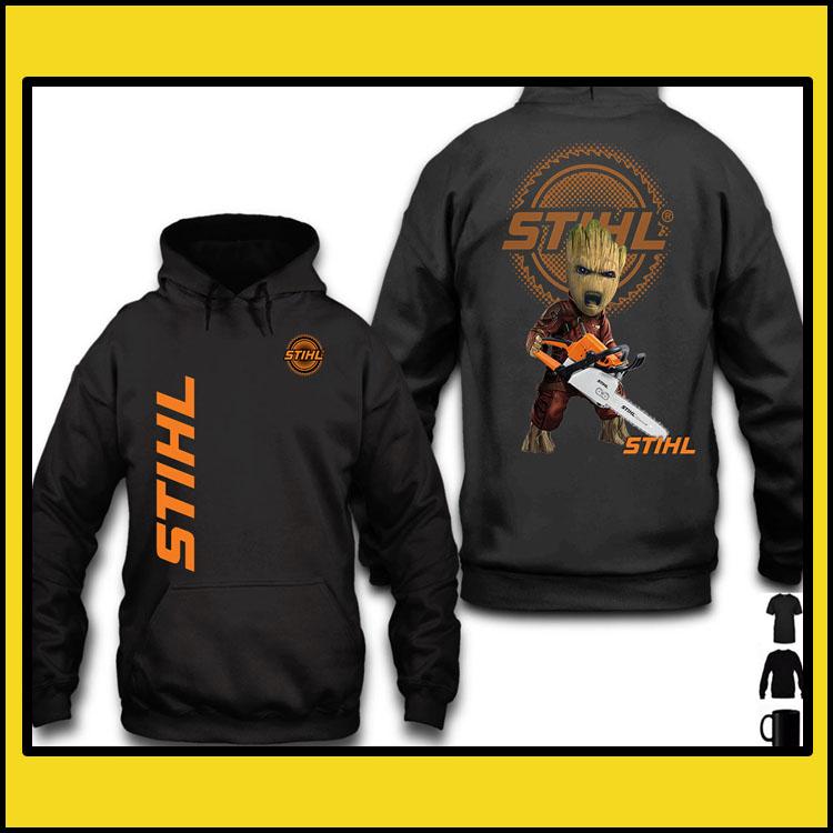 STIHL Groot 3d over print hoodie6