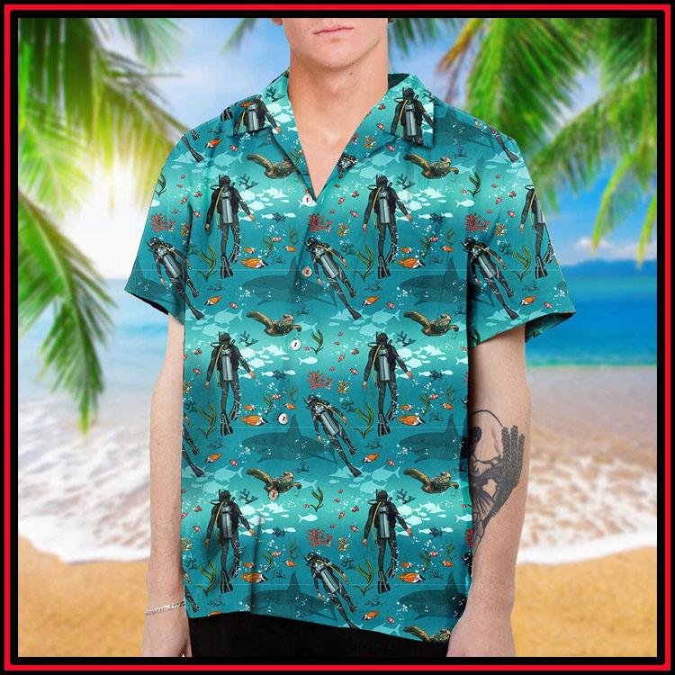 Scuba diving hawaiian shirt and beach short2