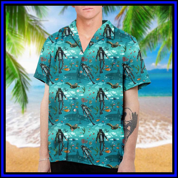 Scuba diving hawaiian shirt and beach short6