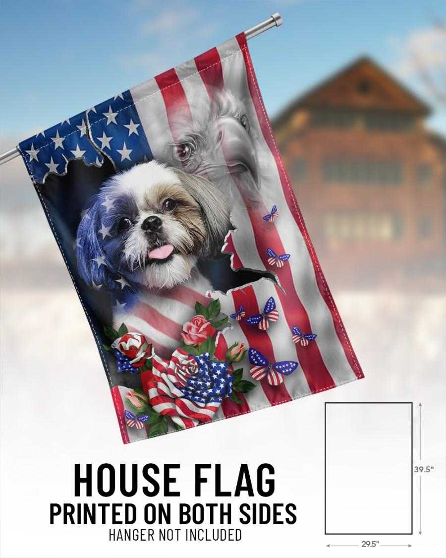 Shih Tzu American flag Proud Flags1