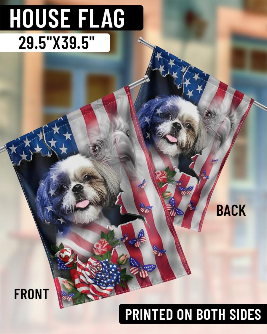 Shih Tzu American flag Proud Flags3
