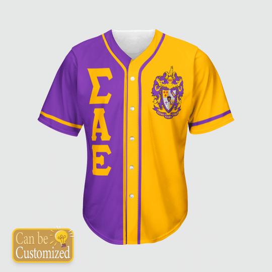 Sigma Alpha Epsilon Personalized Baseball Jersey3