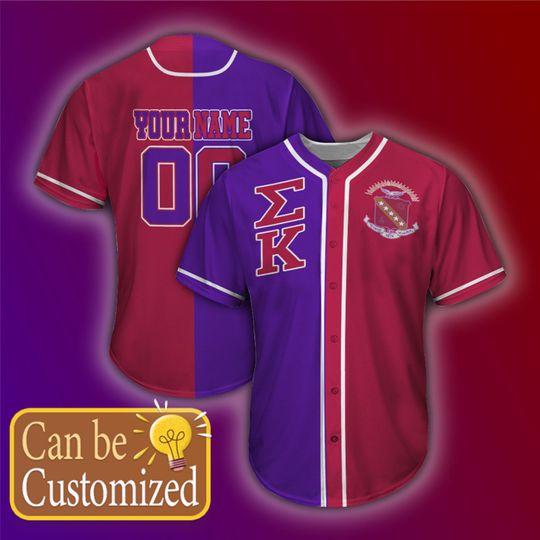 Sigma Kappa Personalized Unisex Baseball Jersey