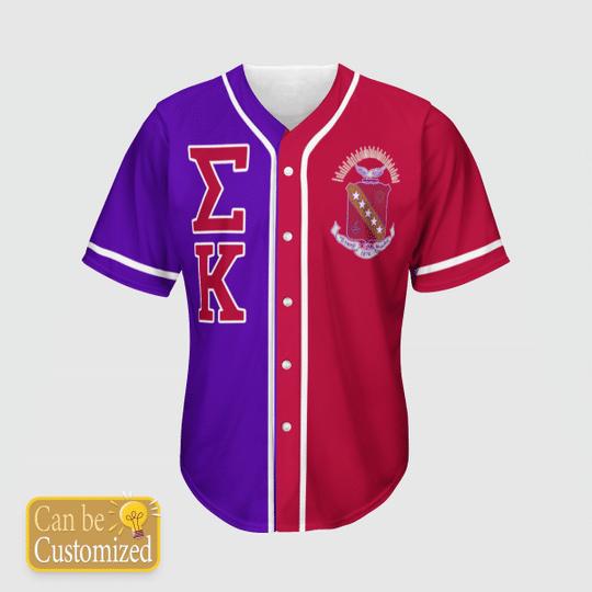 Sigma Kappa Personalized Unisex Baseball Jersey1