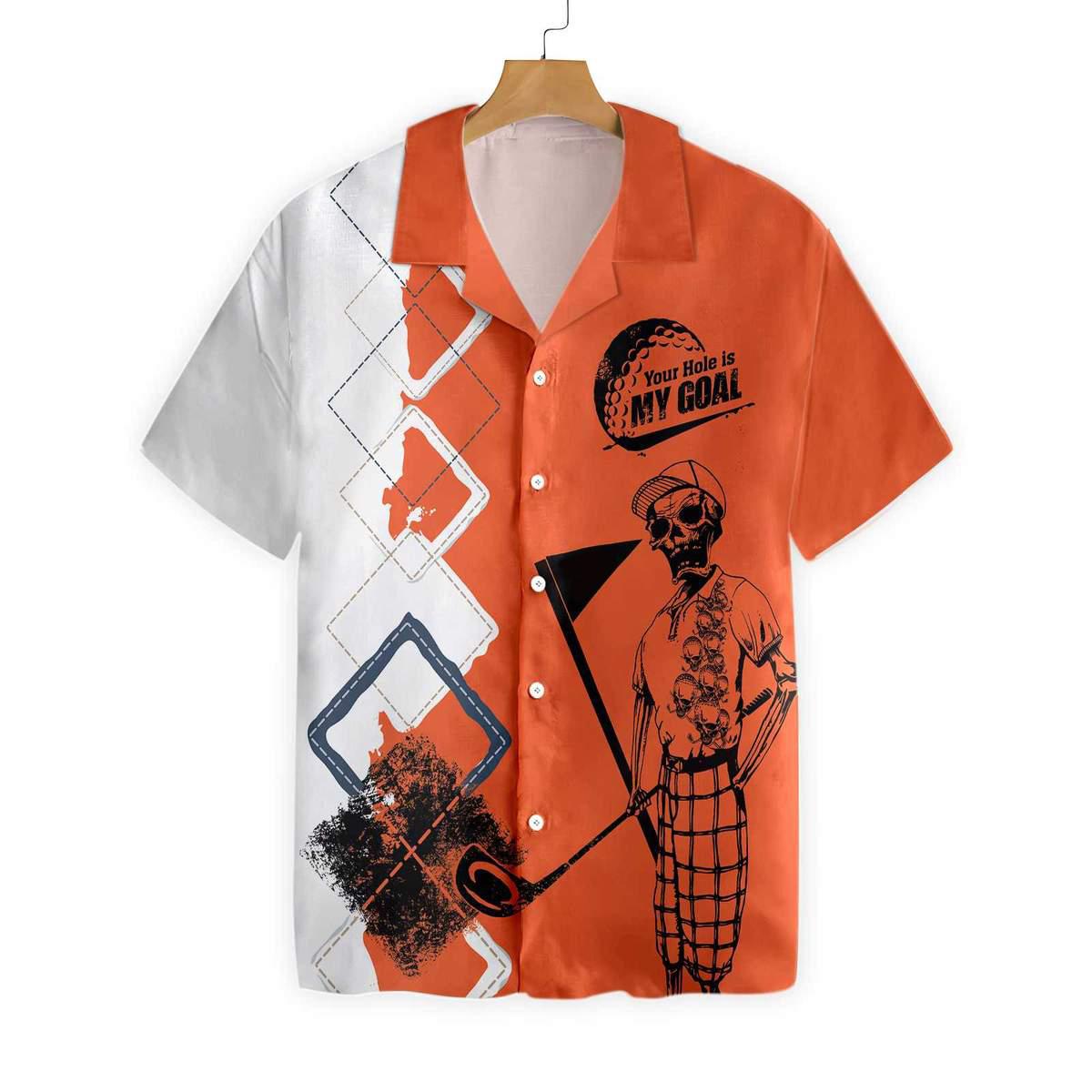 Skeleton Golf Your Hole Is My Goal Hawaiian Shirt