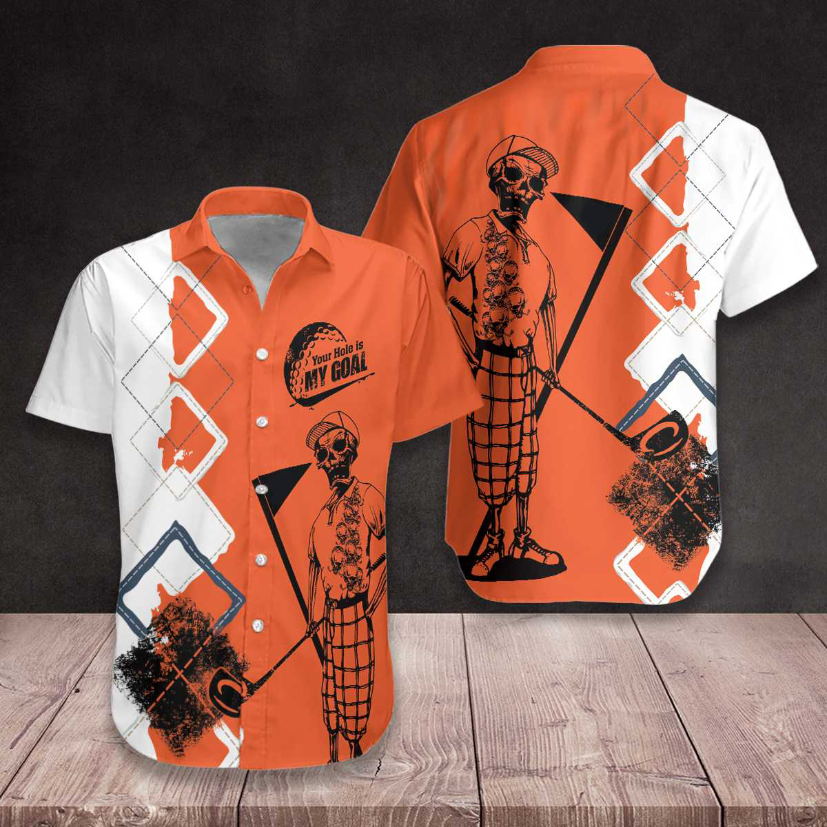 Skeleton Golf Your Hole Is My Goal Hawaiian Shirt1