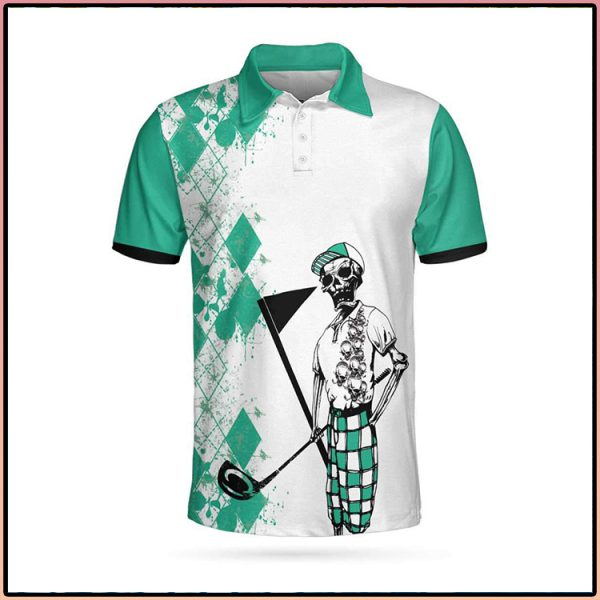Skeleton My Green Jacket Is In The Wash Polo Shirt2 600x600 1