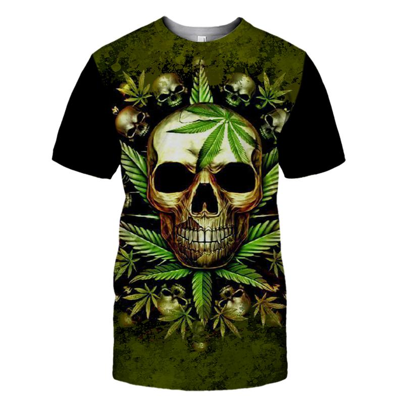 Skull King Weedy In Green We Trust 3d hoodie shirt1