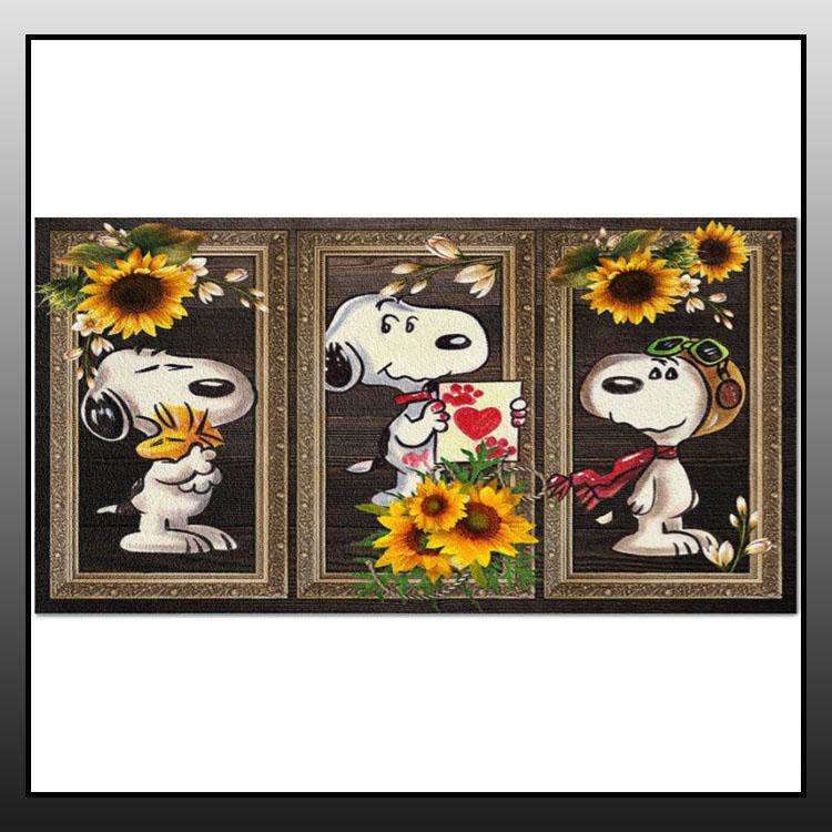 Snoopy Sunflower doormat1