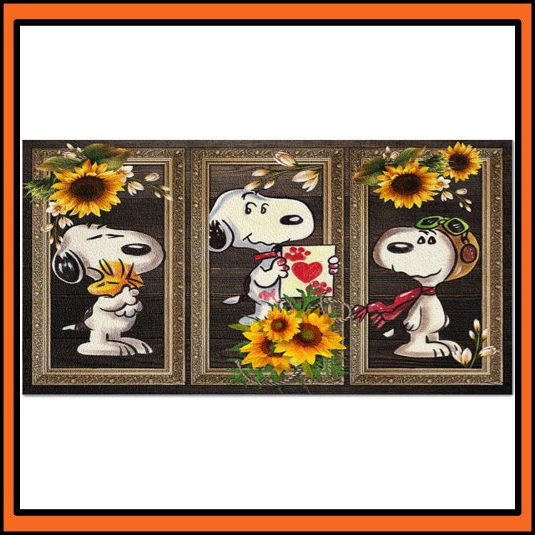 Snoopy Sunflower doormat2