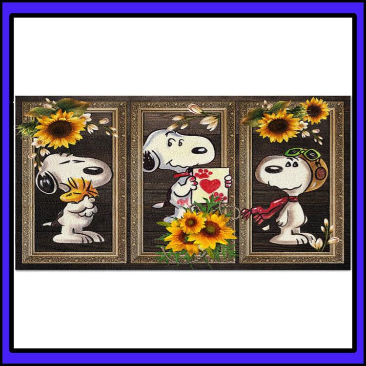 Snoopy Sunflower doormat6