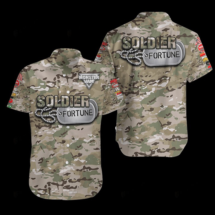 Soldier Fortune Hawaiian Shirt 1