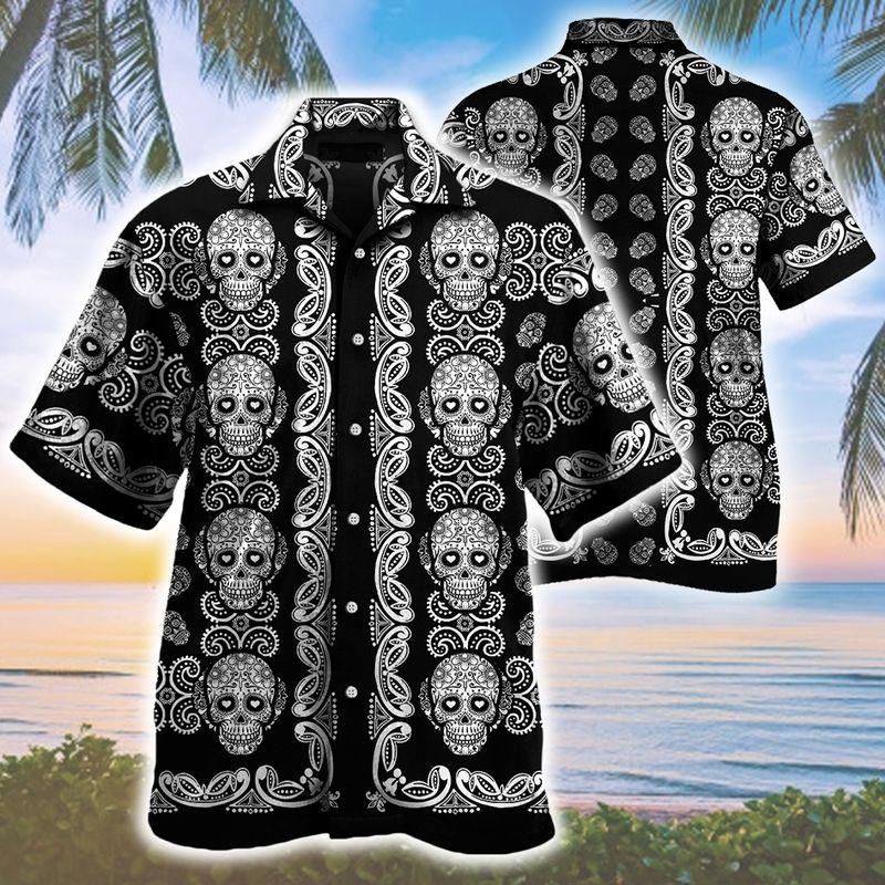 Sugar Skull Pattern all over print Hawaii Shirt 1
